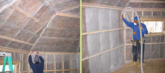 cellulose insulation - Cellulose dense pack injection